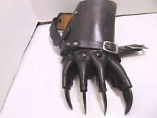 Brown Leather With Black Claws Gauntlets Gothic Glove One