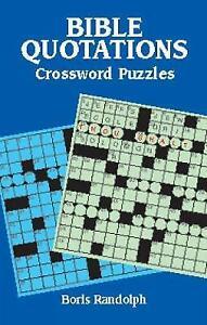 New, Bible Quotations Crossword Puzzles, Boris Randolph, Book