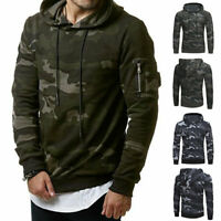 Fashion Men Camouflage Sweater Hooded Hip Hop Pullovers Long Sleeve Tops hoodie