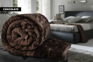 Luxurious Super Size Faux Fur Throws 4 Colours To Choose From Save 80%