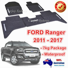 Heavy Duty Rubber Floor Mats Customized Ford Ranger PX PX2 2011-2017 Dual Cab