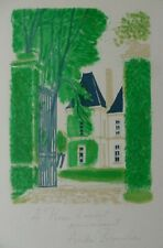 ANDRE BRASILIER B1929 ORIGINAL PENCIL SIGNED/INSCRIBED LITHOGRAPH 'CHATEAUX'