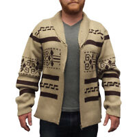 The Dude Sweater Big Lebowski Cardigan Zip Up Knit Jeffery Adult Movie Costume