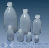 Enghalsflasche PE Kunststoff Plastik rund 10 - 2000 ml Laborflasche mit Deckel