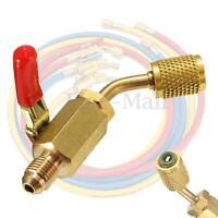 R134a R410a Brass Shut Valve For A/C Charging Hoses HVAC 1/4'' AC Refrigerant  !