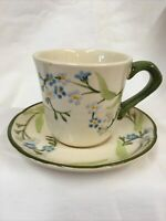 Franciscan Dinnerware Forget Me Not Tea Cup & Saucer 111 Very Good Condition
