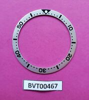 NEW SEIKO BLACK SILVER INSERT 6105, 6309, 7002, 7S26, 7548 DIVE WATCH BVT00467