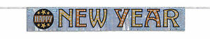 Happy New Year Foil Banner party decoration Sparkly banner Black & Gold
