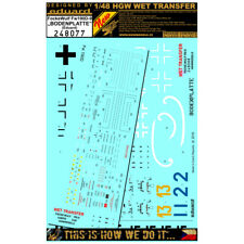 HGW 1/48 Wet Transfers Fw190D-9 Bodenplatte Markings + Stencils - 248077