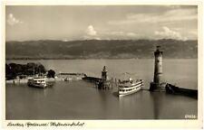 Lindau im Bodensee Bayern alte Ansichtskarte 1951 gelaufen Hafeneinfahrt Schiffe
