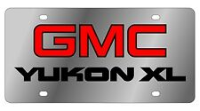 New GMC Yukon XL Red Logo Stainless Steel License Plate