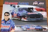 2013 Kenny Lang Summit '69 Chevy Camaro Pro Mod NHRA postcard