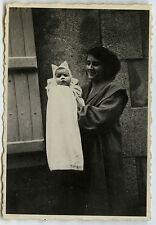 PHOTO ANCIENNE - VINTAGE SNAPSHOT - BÉBÉ ENFANT PYJAMA DRÔLE - BABY FUNNY CHILD