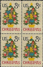 US 1508 Holiday Christmas Tree in Needlepoint 8c block MNH 1973