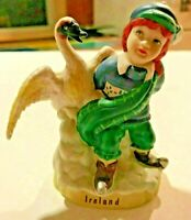 Ireland 1991 Ceramic Figurine of Little Red Haired Boy & Goose by RSVP Int