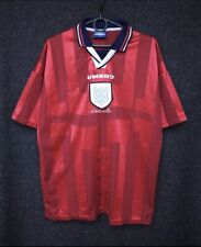 England Football 1998 World Cup Away Shirt Red Size L Large