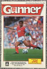 ARSENAL v AFC BOURNEMOUTH - FOOTBALL PROGRAMME - LITTLEWOODS CUP 3RD ROUND, 1987