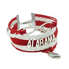 Alabama Crimson Tide BRACELET Charm Red White University Team Football Jewelry