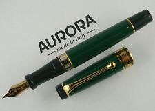 AURORA OPTIMA Green F - Stupenda Stilografica da Collezione Vintage Nuova!!