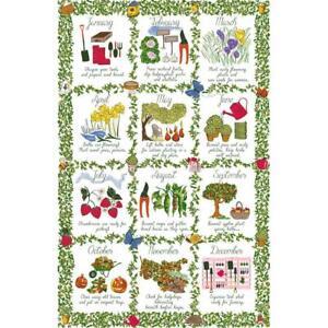 Ulster Weavers Luxury 100% Cotton Tea Towel - Gardeners Calendar - 022GAC2