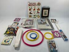 Lot of Cross Stitch Kits Patterns & Supplies Dimensions Janlynn J&P Coats Floss