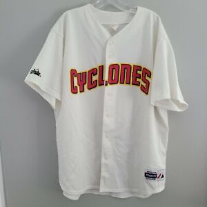 Rare Vintage 90s Majestic Brooklyn Cyclones Baseball Jersey Mens 2XL NY Mets