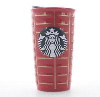 Starbucks 2016 Holiday Siren Ceramic Coffee Travel Tumbler Cup,10 oz. Red