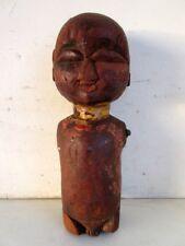Antique Old Hand Carved Wooden Indian Primitive Tribal Lady Figure Folk Art