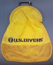 U.S. Divers Mesh Catch Bag Aqualung Uncoated Wire Handle Steel Closure 18x22