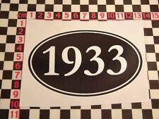 1933 Year Sticker - Morris Austin 7 Morris 12 8 10 Standard Wolseley