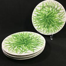 4 TAITU Erbe by Emilio Bergamin Salad Plates Made in Italy Green Herbs