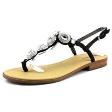 Calzado de mujer sandalias con tiras planos de piel