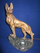 Antique LARGE Charlkware Chalk Ware Dog Lamp Great Color RARE FIND!!
