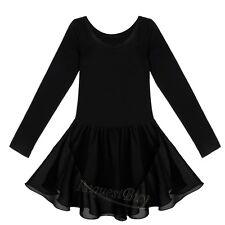 Girls Leotard Ballet Tutu Dress Ballerina Fairy Swan Costumes Dancewear 2-12Y