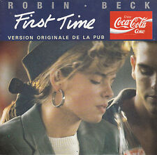 "7"" 45 TOURS FRANCE ROBIN BECK ""First Time"" 1988 PUB COCA-COLA"
