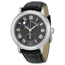 RAYMOND WEIL MOON PHASE AUTOMATIC DATE BLACK DIAL MEN'S WATCH 2839-STC-00209 NEW