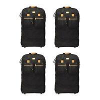 "Pack of 4 - 40"" Black Rolling Wheel Duffel Bag Spinner Suitcase Duffle Luggage"
