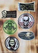 Retro Aufkleber Set 6St. Hot Rods & Skull Speedshop Rockabilly & Biker Sticker