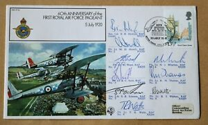 RAF PAGEANT 60TH ANNIVERSARY 1980 COVER SIGNED BY 9 RED ARROWS PILOTS