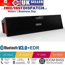 Altavoz inalámbrico Bluetooth portátil estéreo reproductor de subwoofer de sonido FM USB TF