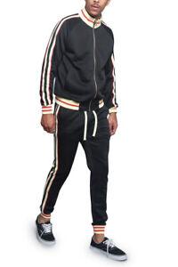 Men's Workout Sports Jogger Track Pants & Jacket Track Suit Set  ST575EY