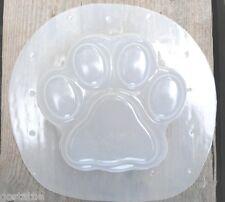 Gostatue simple plain pawprint plastic mold dog cat paw mould