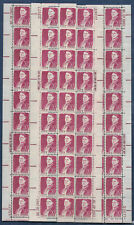 More details for usa-united states 1968 50c postage lucy stone 4 x strips of 20 scot 1293 mnh