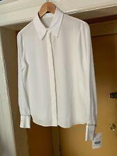 LOUIS VUITTON Uniformes Button Down White Blouse Size 40 NEW (READ DESCRIPTION)