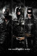 BATMAN THE DARK KNIGHT RISES ~ TRIPLE RISE 24x36 MOVIE POSTER Bane Catwoman