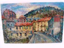"SOURDILLON Berthe (1895-1976) ""Rue du village Provençal"" H S/carton circa 1955"