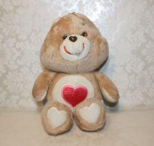 Vintage 1983 Kenner AGC Care Bears TENDERHEART BEAR Brown Plush