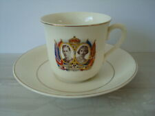 CORONATION CUP & SAUCER 1937 - George VI & Elizabeth - Made in England - V.G.C.