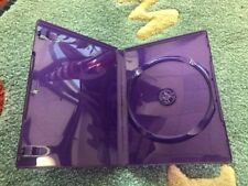 100 New Microsoft Kinect 14mm Clear Purple XBox Game DVD Case PSD12KINECT