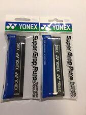 2 x BLACK YONEX SUPER GRAP PURE PREMIUM GRIP AC108EX BADMINTON SQUASH TENNIS